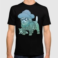 Kurt Russell Terrier - R.J. MacReady LARGE Black Mens Fitted Tee