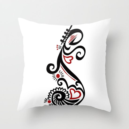 Musical Motif - ANALOG Zine Submission Throw Pillow