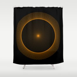 Interference Pattern Shower Curtain