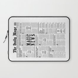 The Daily Mage Fantasy Newspaper Laptop Sleeve