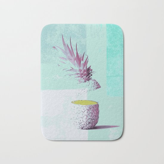 Pineapple tropicana Bath Mat