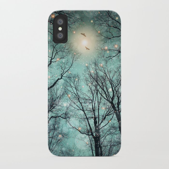 Nature Blazes Before Your Eyes (Mint Embers) iPhone Case