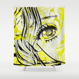 LEDA AND SWANY Shower Curtain