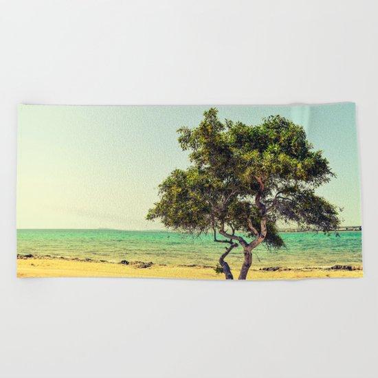 Cyprus Tree Beach Towel