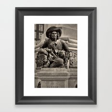 The Warrior and his dog Framed Art Print