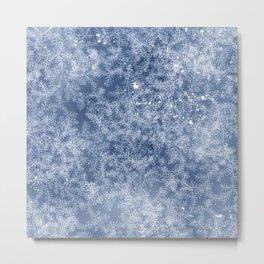 Winter frost pattern Metal Print