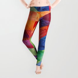 Deep colored silks Leggings