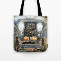 jeep Tote Bags featuring Willie Jeep by Urlaub Photography