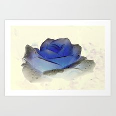 something blue... Art Print
