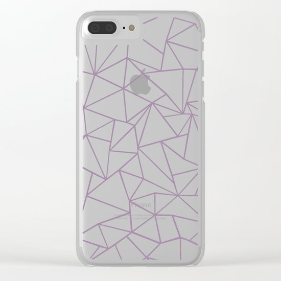 Ombre Ab Plum Clear iPhone Case
