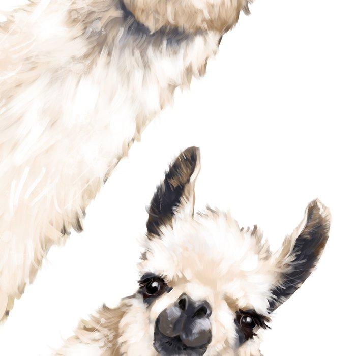 Sneaky Llama White Leggings