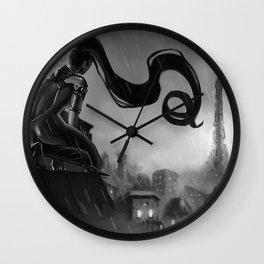 Paris at Midnight Wall Clock