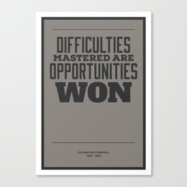 Difficulties Canvas Print