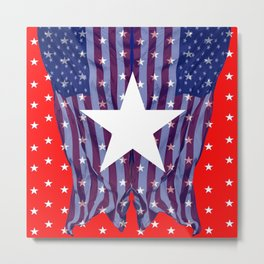 RED, WHIT , BLUE AMERICANA STARS Metal Print
