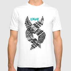 United Love SMALL White Mens Fitted Tee