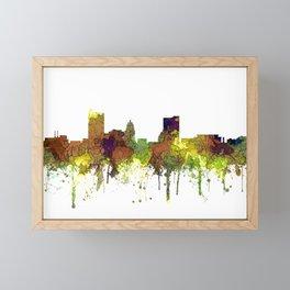 Fort Wayne, Indiana Skyline SG - Safari Buff Framed Mini Art Print