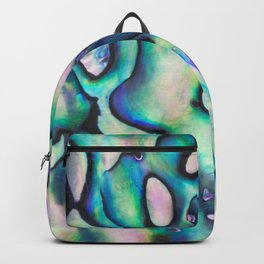 Purpley Green Mother of Pearl Abalone Shell Backpack