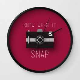 Know When To Snap Wall Clock