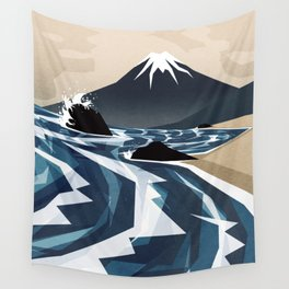 Breaking the waves Wall Tapestry