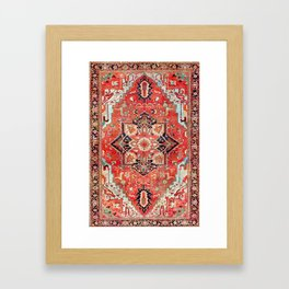 Heriz Azerbaijan Northwest Persian Rug Print Framed Art Print