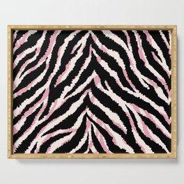 Zebra fur texture print Serving Tray