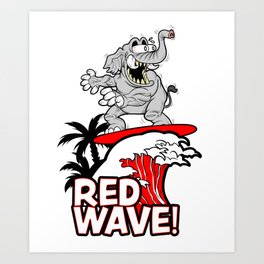 Red Wave Design for Conservative Republican 2018 Voters Art Print