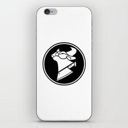 Cow Chop Black & White iPhone Skin