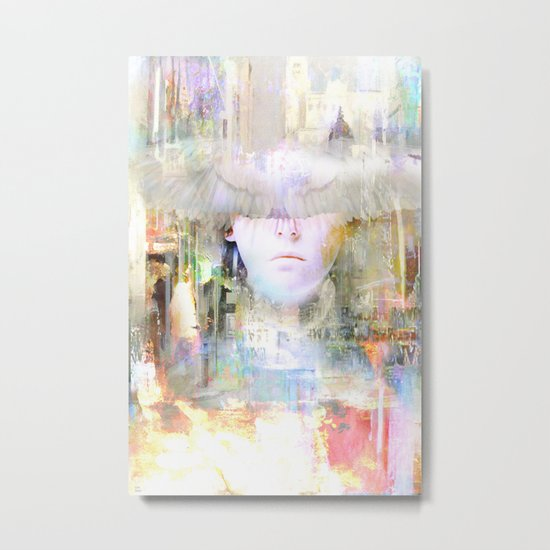 An angel in the city Metal Print
