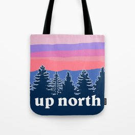 up north, pink hues Tote Bag
