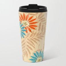Japanese Vintage Flowers Pattern Metal Travel Mug