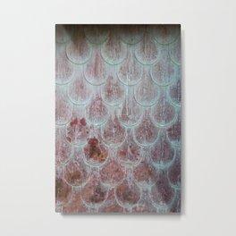 Rusted Scallops Metal Print
