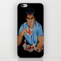 dexter iPhone & iPod Skins featuring Dexter by Lydia Dick