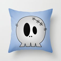 Dead Little Skull Throw Pillow