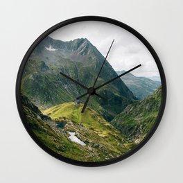 Alps of Switzerland Wall Clock