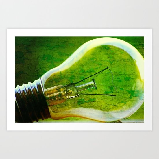 light bulb - think green Art Print