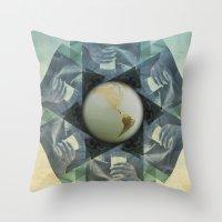 milk Throw Pillows featuring milk by Vin Zzep