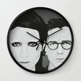 Lisbeth and Mikael / The Girl with the Dragon Tattoo Wall Clock