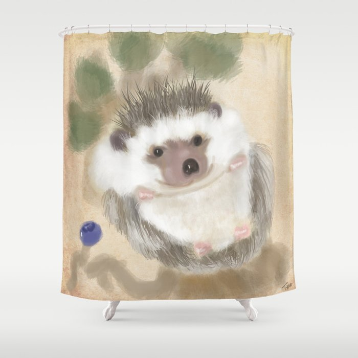 Hedgehog Hangout Shower Curtain