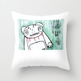panda's friends Throw Pillow