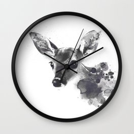 Watercolor Deer Wall Clock