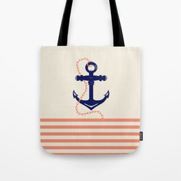 AFE Navy Anchor and Chain Tote Bag