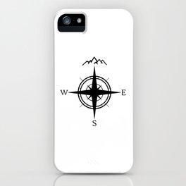 Mountain Compass iPhone Case