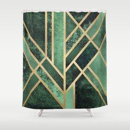 Art Deco Emerald Shower Curtain