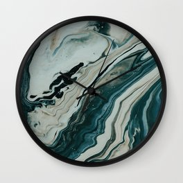 Tranquil Arctic Painting Marble Wall Clock