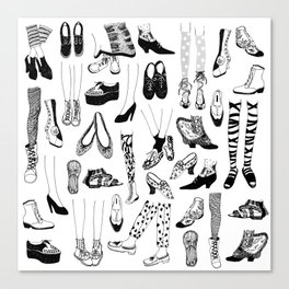 Legs and Shoes Pattern #1 Canvas Print