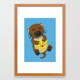Otto and Bling Bling Framed Art Print