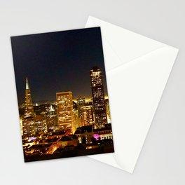San Francisco at night, illuminated by the Moon Stationery Cards