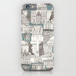 Washington DC toile juniper iPhone Case