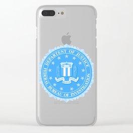 FBI Seal In Blue Clear iPhone Case