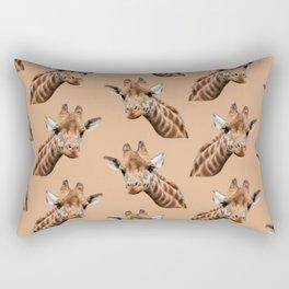 primitive African safari animal brown giraffe Rectangular Pillow